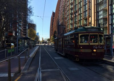 The time-honored Circle Tram circles Melbourne CBD